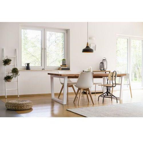Stół dębowy rozkładany TRAPEZ - białe nogi, 3003-51313