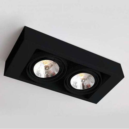 Spot LAMPA sufitowa KOGA 1153/GU10/CZ Shilo natynkowa OPRAWA metalowa prostokątna czarna, kolor Czarny