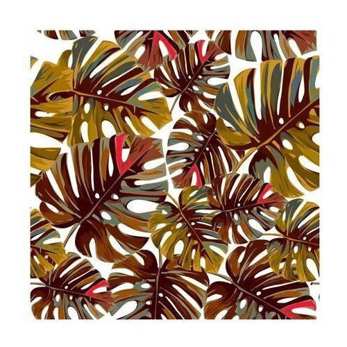 Panel kuchenny szklany Monstera warm 60 x 60 cm Alfa-Cer