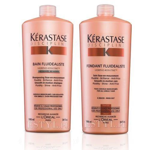 Kerastase Fluidealiste - bezsiarczanowy zestaw dyscyplinujący włosy: szampon + odżywka 2x1000ml z kategorii Odżywianie włosów