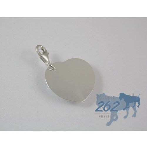 Zawieszka charms serce srebro 925 +grawer marki Mowatex