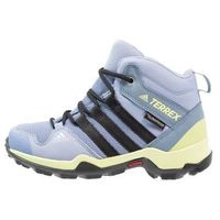 adidas Performance TERREX AX2R MID CP OUTDOORSCHUH KINDER Buty trekkingowe chalk blue/core black/semi frozen yellow