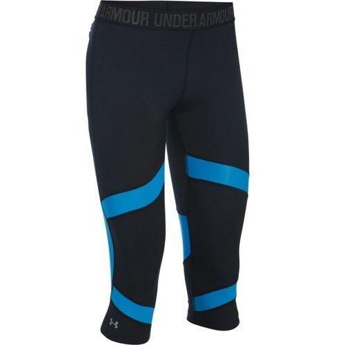 Under armour  coolswitch spliced capri - damskie legginsy (czarno-niebieski)