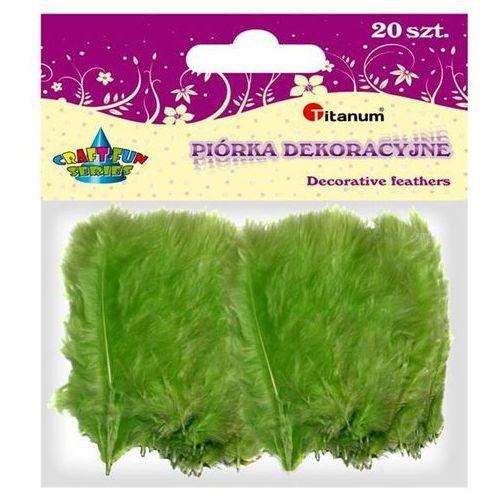 Kolorowe pióra dekoracyjne, 20szt zielo, CRAFT-FUN - zielony (5907437654866)