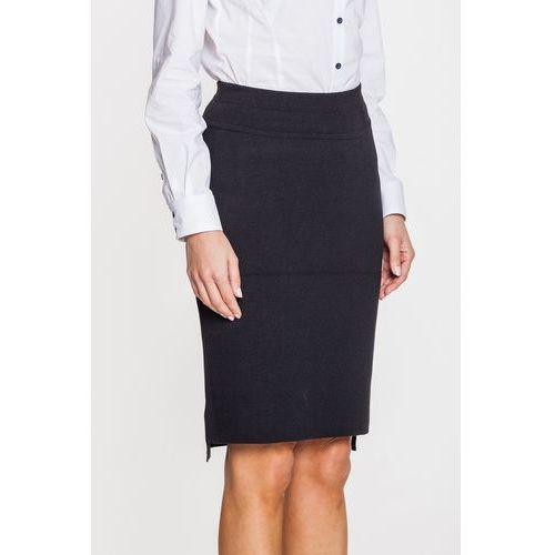 Dzianinowa, czarna spódnica - marki Far far fashion