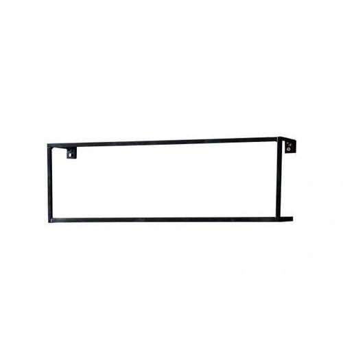 :: półka ścienna meert metalowa - czarna marki Woood