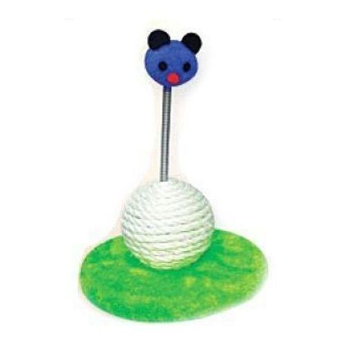Yarro drapak dla kota mini-myszka z kulką zielono-niebieska