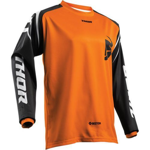 THOR BLUZA SECTOR ZONES S8 OFFROAD JERSEY ORANGE=$