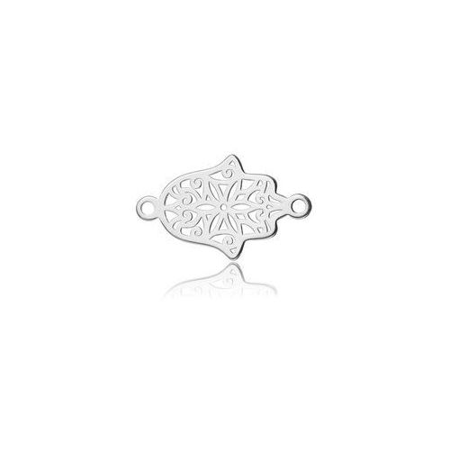 Ażurowa ręka fatimy - łącznik, srebro próba 925 bl 265 wyprodukowany przez 925.pl