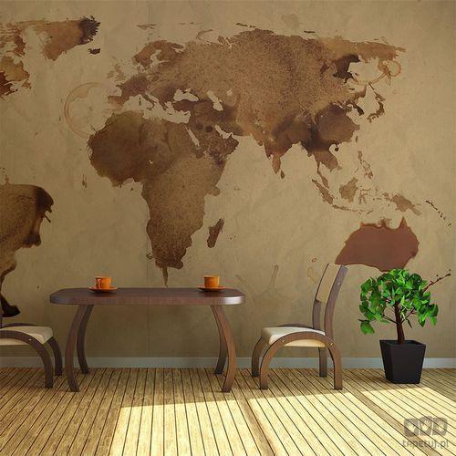 Fototapeta herbaciana mapa świata 10060910-1, marki Murando