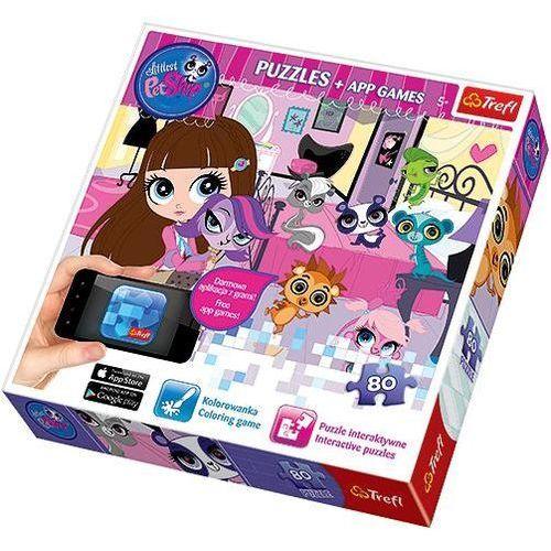Puzzle Littlest Pet Shop Wieczorne zabawy 80 + Aplikacje (5900511751017)