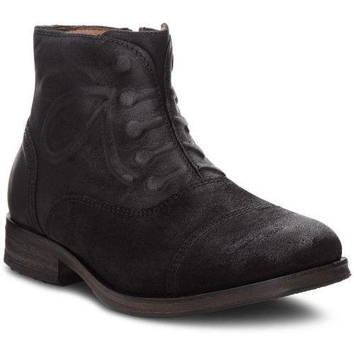 Trzewiki - dressy suede zipped em0em00137 black 990 marki Tommy jeans
