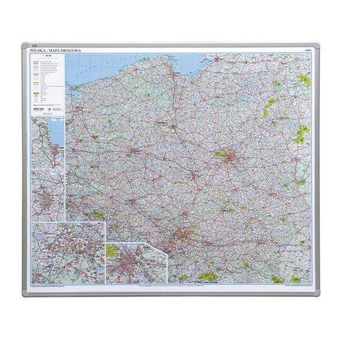 tablica mapa Polski drogowa magnetyczna