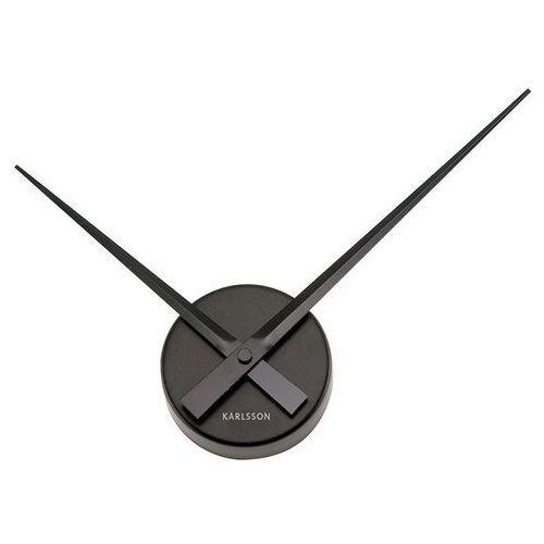 Karlsson:: Zegar ścienny Little Big Time Mini alu czarny - czarny