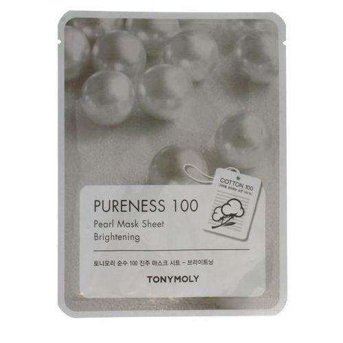 Pureness 100 pearl mask sheet brightening odżywcza maska do twarzy z wyciągiem z pereł 21ml marki Tony moly