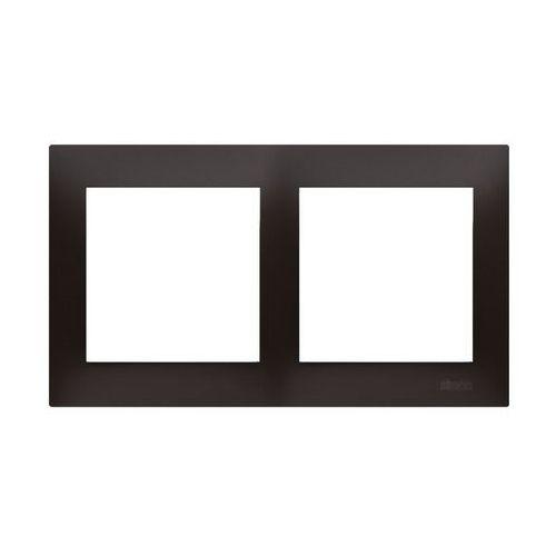 Ramka podwójna simon 54 drk2/48 do puszek karton-gips antracyt marki Kontakt-simon