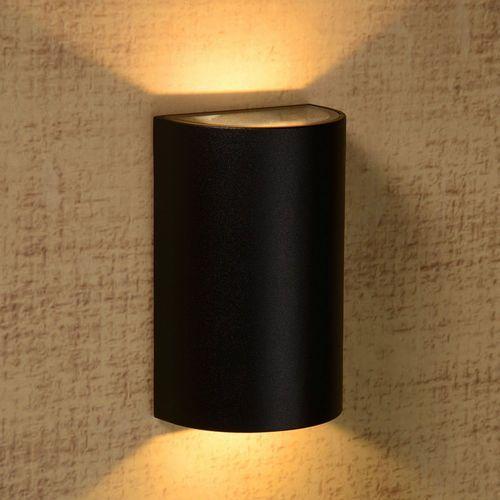 Lucide Hyro-led - kinkiet zewnętrzny led cylinder 2-punktowy czarny wys.15,7cm (5411212271068)