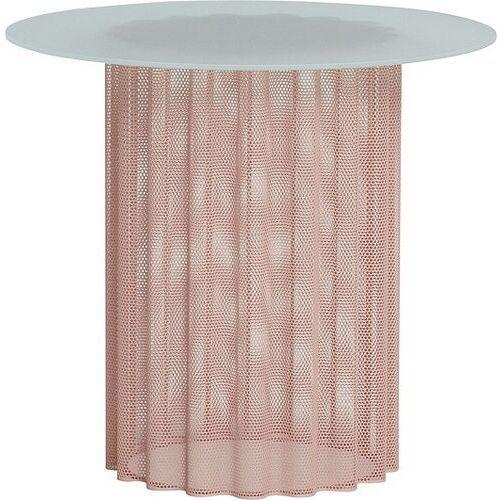 Stolik hübsch okrągły różowo-beżowy