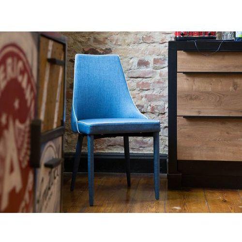 Zestaw do jadalni 2 krzesła ciemnoniebieskie CAMINO, kolor niebieski