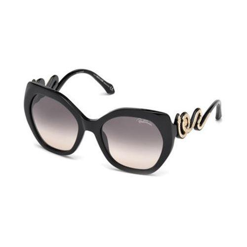 Okulary Słoneczne Roberto Cavalli RC 1047 CHIANCIANO 01B, kolor żółty