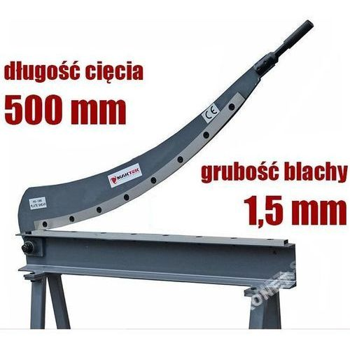 Gilotyna nożyce sierpowe szablowe do blachy hs-500 - ewimax oficjalny dystrybutor - autoryzowany dealer maktek marki Maktek