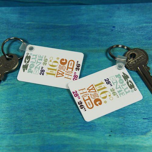 Koordynaty - brelok do kluczy - Brelok do kluczy
