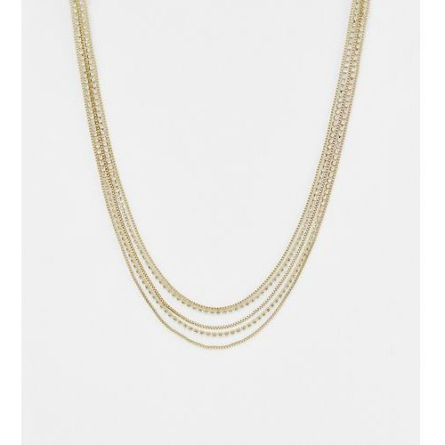 Liars & lovers gold chain & diamante layering necklace - gold
