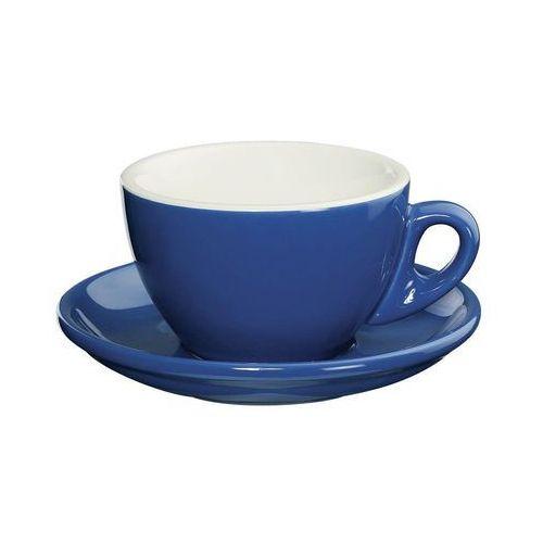 filiżanka do cappuccino ze spodkiem, porcelana, granatowa, 0,1 l, CI-215199 (10956958)
