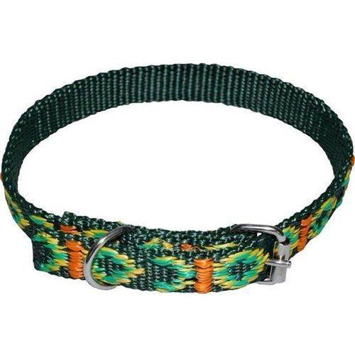 standard - ozdobna obroża dla psa o obwodzie szyi 24cm-31cm - 24cm-31cm \ zielony marki Chaba