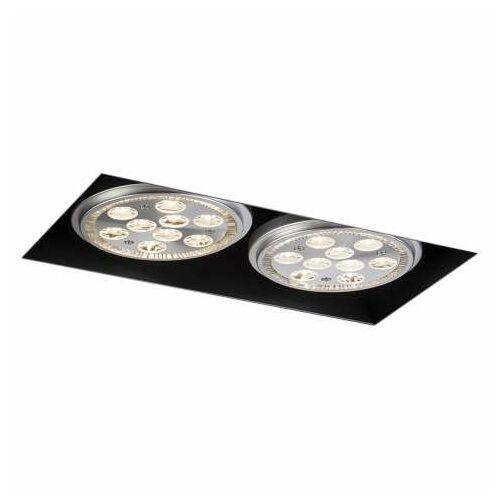 Podtynkowa lampa sufitowa yatomi 3331/gu10/cz metalowa oprawa regulowana wpust prostokątny czarny marki Shilo