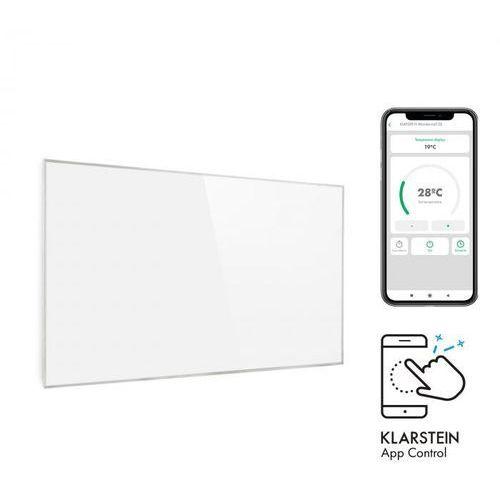 Klarstein wonderwall inteligentny promiennik podczerwieni 50 x 90 cm 450 w timer tygodniowy ip24 kolor biały (4060656104640)