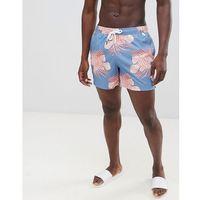 lion fish print swim shorts badge pocket logo in blue - blue, Abercrombie & fitch, XS-S