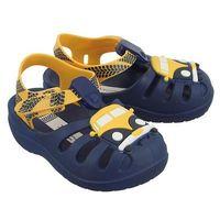 IPANEMA 82308 SUMMER IV BABY 24467 blue/yellow, sandały dziecięce, rozmiary: 21-28,5, kolor niebieski