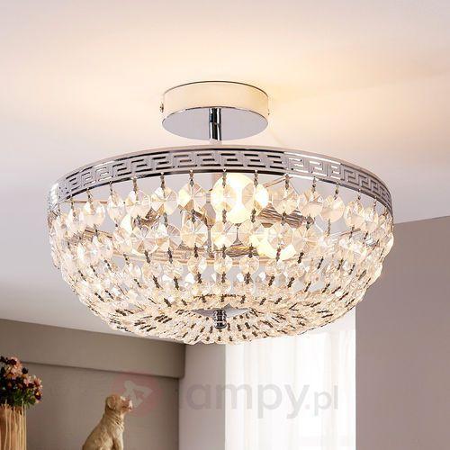 Lampenwelt Mieniąca się kryształowa lampa sufitowa mondrian (4251096516517)