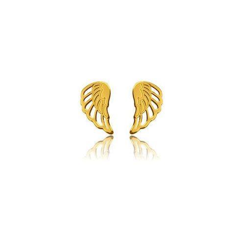 Sztyft baza do kolczyków Skrzydła, złoto próby 585, SZ WINGS