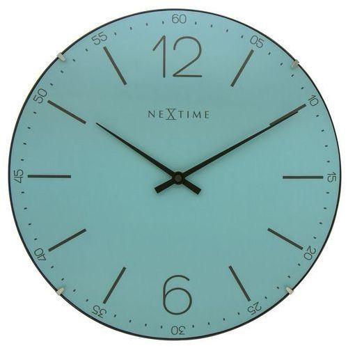 NeXtime - Zegar ścienny Index Dome - turkusowy