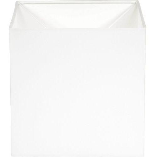 abażur kwadratowy biały 20/20