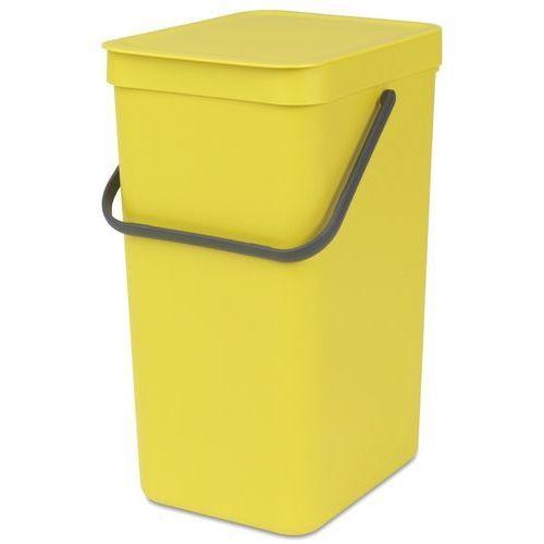 Brabantia kosz na śmieci sort&go, 16 l, żółty (8710755109867)