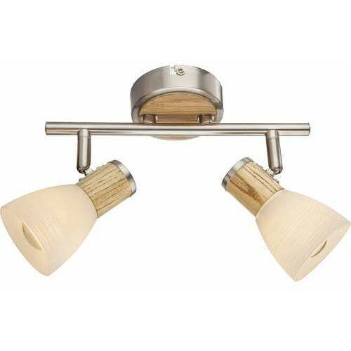 Plafon lampa oprawa sufitowa Globo Gylfi 2x40W E14 biały/beżowy/matowy chrom 54352-2 (9007371346547)