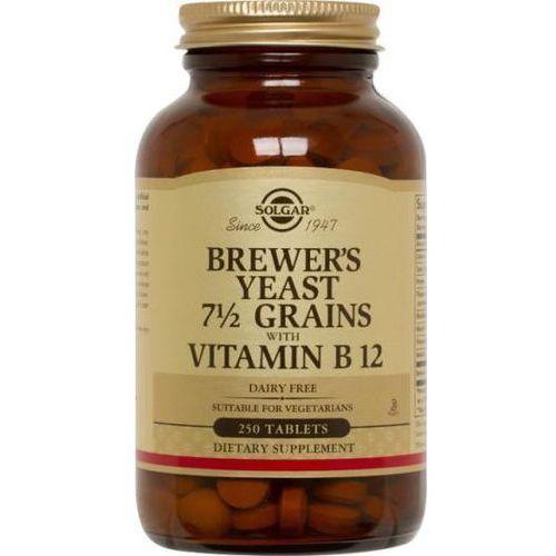 Tabletki SOLGAR Drożdże Piwne z Witaminą B12 - 250 tabletek wegetariańskich