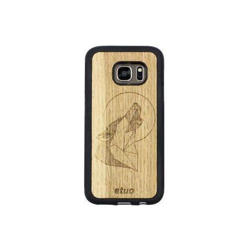 Samsung Galaxy S7 - etui na telefon Wood Case - Wilk - dąb, ETSM295WOODWID000