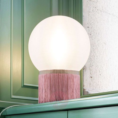 atmosfera lampa stołowa fringe, 30 cm różowa marki Slamp