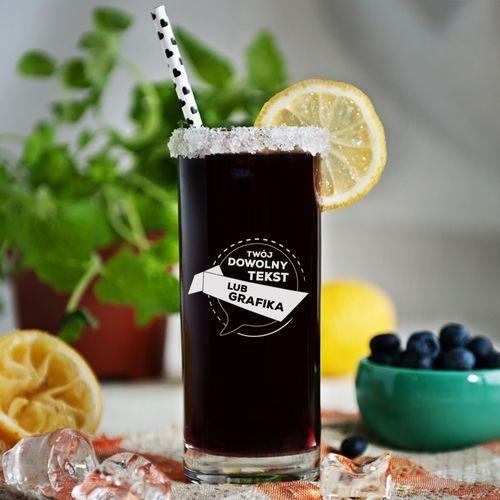 Projekt własny - Grawerowana szklanka do drinków - Szklanka