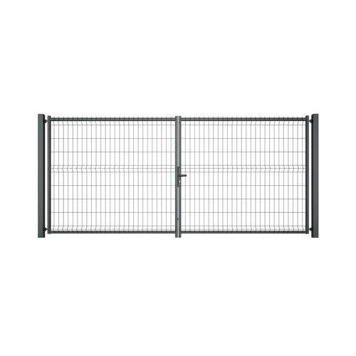 Brama dwuskrzydłowa VERA 400 x 173 cm antracytowa WIŚNIOWSKI