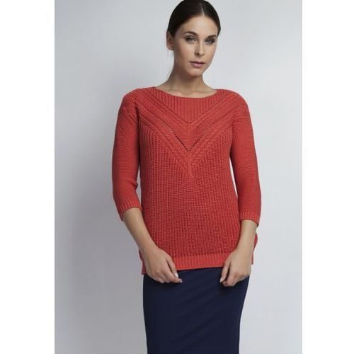 MKM Penny SWE041 koralowy sweter, kolor czerwony