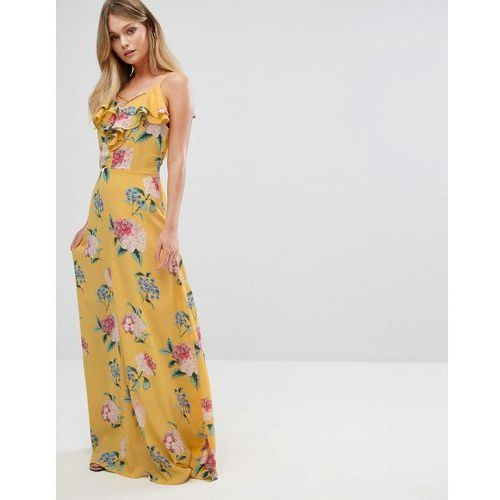 New look  floral ruffle maxi dress - yellow