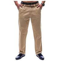 Spodnie chinosy męskie beżowe denley 6190, Glo-story