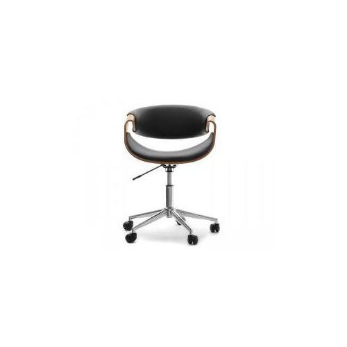 Fotel kosmetyczny milano orzech-czarny marki Vanity