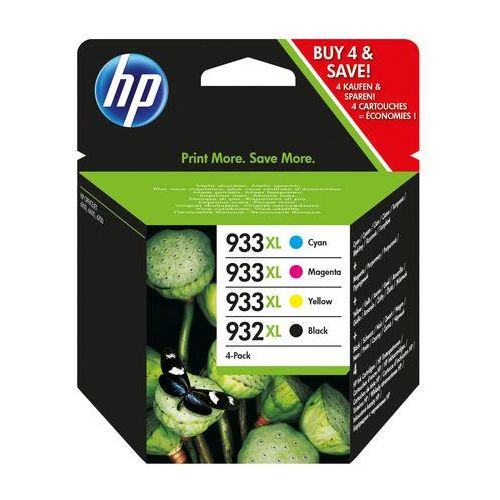 Hp oryginalny ink c2p42ae, no.932xl/no.933xl, cyan/magenta/yellow/black, 825/1000s, 4szt, hp marki Hewlett-packard