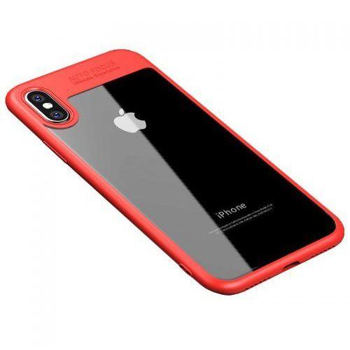 Etui z ramką iPaky Frame iPhone XS / X Czerwone, kolor czerwony
